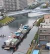 小名木川護岸工事が始まりました。